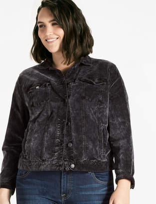 Lucky Brand Velvet Plus Trucker Jacket
