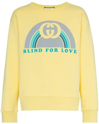 Gucci logo print cotton jumper
