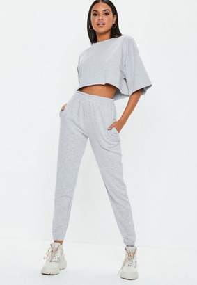 Missguided Grey Slim Leg Joggers, Grey