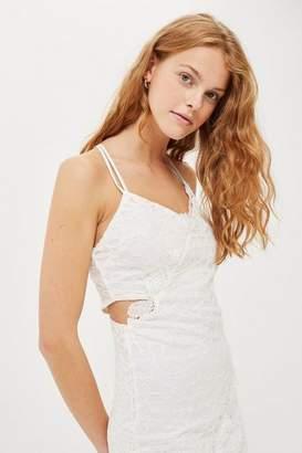 Topshop Tall Double Lace Mini Dress