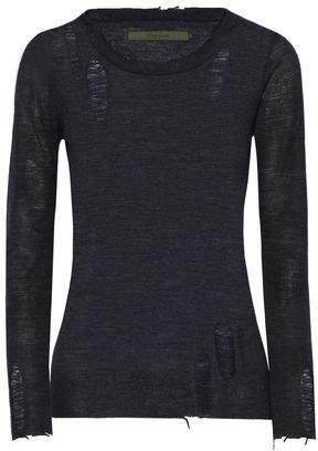 Distressed Merino Wool Sweater