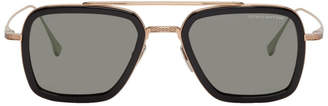 Dita Black and Gold Flight.006 Aviator Sunglasses
