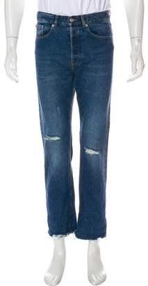 Dries Van Noten Distressed Straight-Leg Jeans