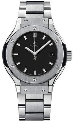 Hublot 581.nx.1171.nx Classic Fusion Quartz Titanium 33mm Mens Watch $5,200 thestylecure.com