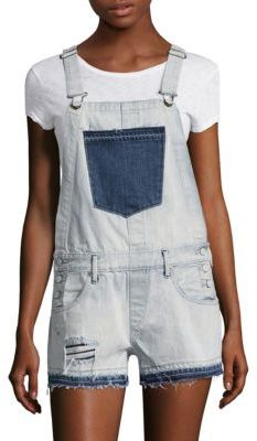 True Religion Light Wash Cotton Shortall $219 thestylecure.com