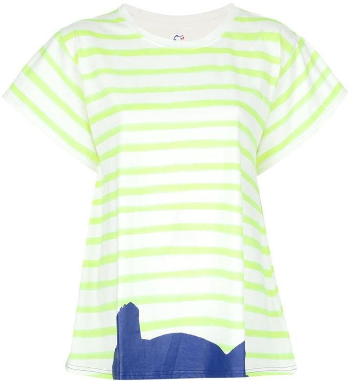 Tsumori Chisato Cats By striped t-shirt