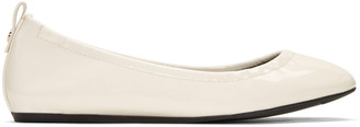 Lanvin Ivory Patent Leather Classic Ballerina Flats $550 thestylecure.com