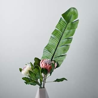 west elm Metaflora Faux Banana Leaf + Protea Bouquet