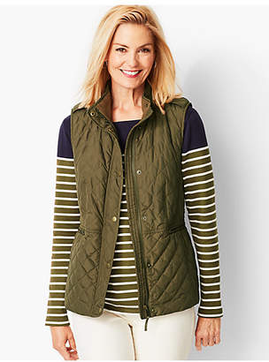 Talbots Quilted Fleece-Lined Vest