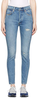 Levi's Levis Blue Altered 501 Skinny Jeans