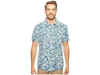 Agave Denim Isla Vista Bloom Linen Short Sleeve Button Up Men's Short Sleeve Button Up