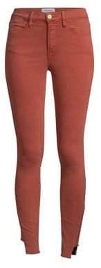 Frame Step-Hem Skinny Jeans