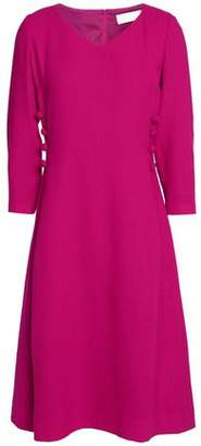 Goat Button-Detailed Wool-Crepe Dress