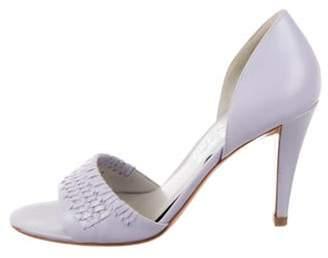 Salvatore Ferragamo Leather D'Orsay Sandals Leather D'Orsay Sandals