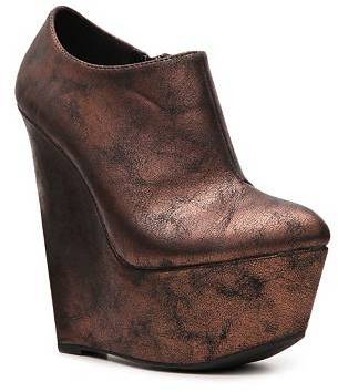 Qupid Stuckup-02 Platform Wedge Bootie