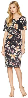 Adrianna Papell Twilight Jungle Draped Dress Women's Dress