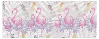 Flamingos East Urban Home Mmartabc and Pineapples Watercolor Bed Runner East Urban Home