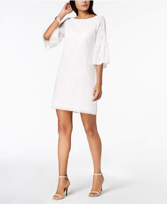 Jessica Howard Bell-Sleeve Cotton Eyelet Dress, Regular & Petite