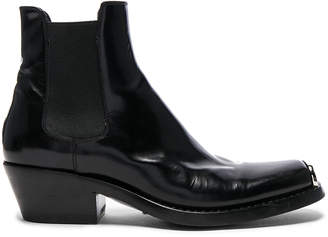 Calvin Klein Claire Leather Western Ankle Boots
