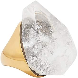 Alexander McQueen Faceted White Stone Ring