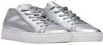 Crime London Silver Raw Lo Sneakers