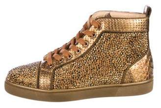Christian Louboutin Louis Flat Strass Sneakers w/ Tags gold Louis Flat Strass Sneakers w/ Tags