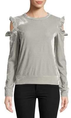 Design Lab Velvet Cold Shoulder Pullover
