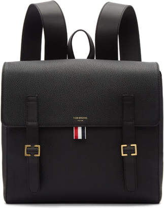 Thom Browne Black Unstructured Book Backpack