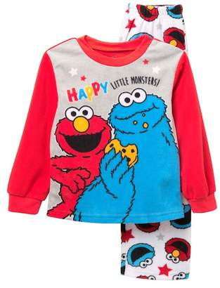 AME Elmo & Cookie Monster Happy Little Monsters Fleece Pajama Set (Toddler Boys)
