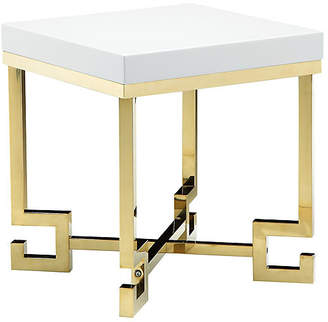 One Kings Lane Sophia Side Table - White/Gold