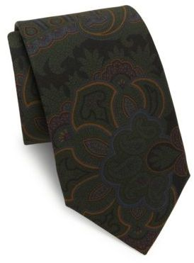 Ralph Lauren Purple Label Printed Silk Tie