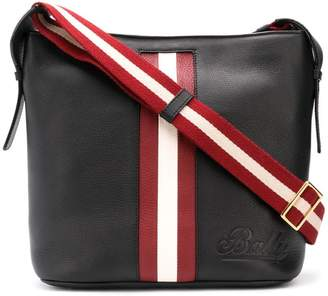 Bally contrasting panel shoulder bag