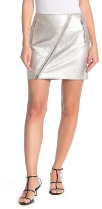 Current/Elliott The Belen Metallic Leather Mini Skirt