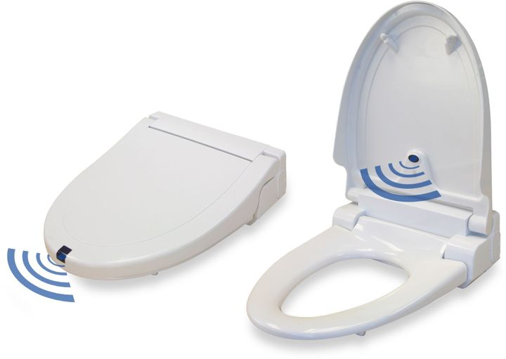 iTouchless Sensor Control Plug- in Elongated Toilet Seat