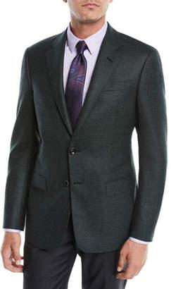 Giorgio Armani Men's Micro-Tile Wool Sport Coat Jacket