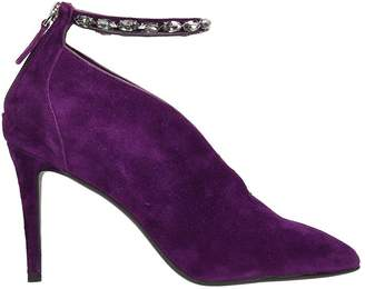 Lola Cruz Purple Suede Leather Pumps