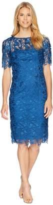 Adrianna Papell 3/4 Sleeve Lace Sheath Dress Women's Dress