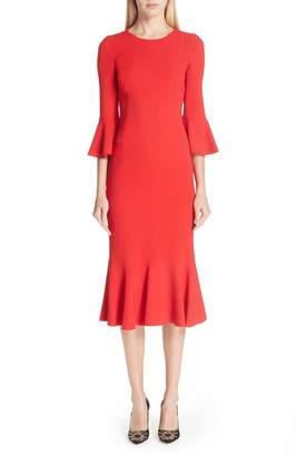 Dolce & Gabbana Ruffle Hem Dress
