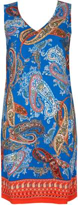 WallisWallis Blue Paisley Print Shift Dress