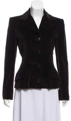 Dolce & Gabbana Structured Velvet Blazer