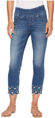 Jag Jeans Lewis Straight Pull-On Ankle w/ Embroidery in Skydive Women's Jeans