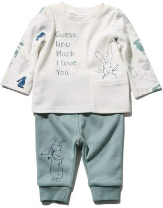 M&Co Guess how much I love you top and joggers set (Newborn - 3 yrs)