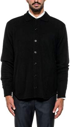 Aspesi Black Wool Cardigan