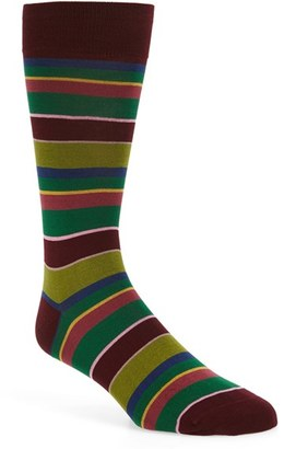 Men's Bugatchi 'Pop' Stripe Socks $19.95 thestylecure.com