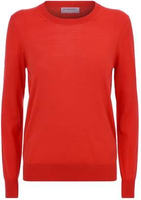 Burberry Elbow Patch Merino Wool Sweater