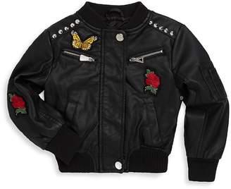 Urban Republic Girl's Patch Bomber Jacket