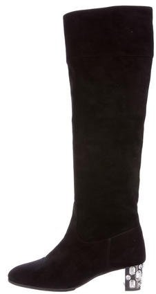 Miu Miu Miu Miu Embellished Knee-High Boots