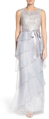 Women's Adrianna Papell Organza Ruffle Gown $219 thestylecure.com