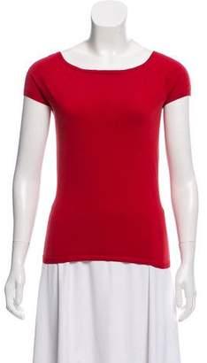 TSE Silk-Blend Short Sleeve Top