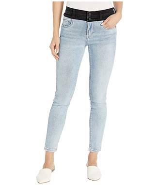 Blank NYC Light Indigo Washed Black Two-Tone High-Rise Jeans in Aquarius